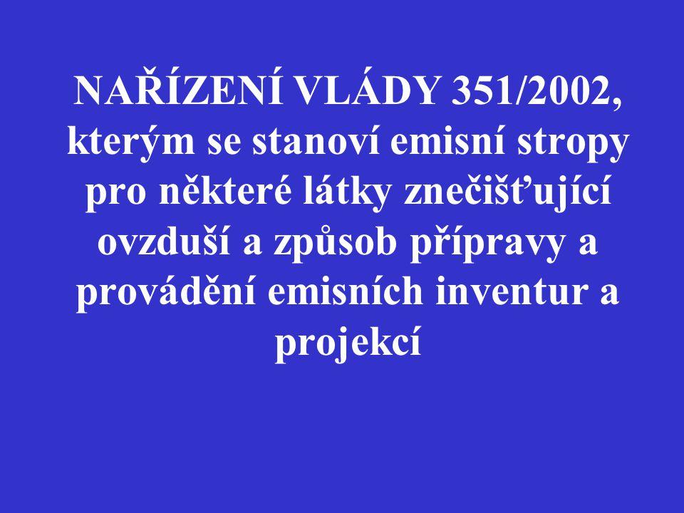 Směrnice evropského parlamentu a rady č.2001/81/ES ze dne 23.