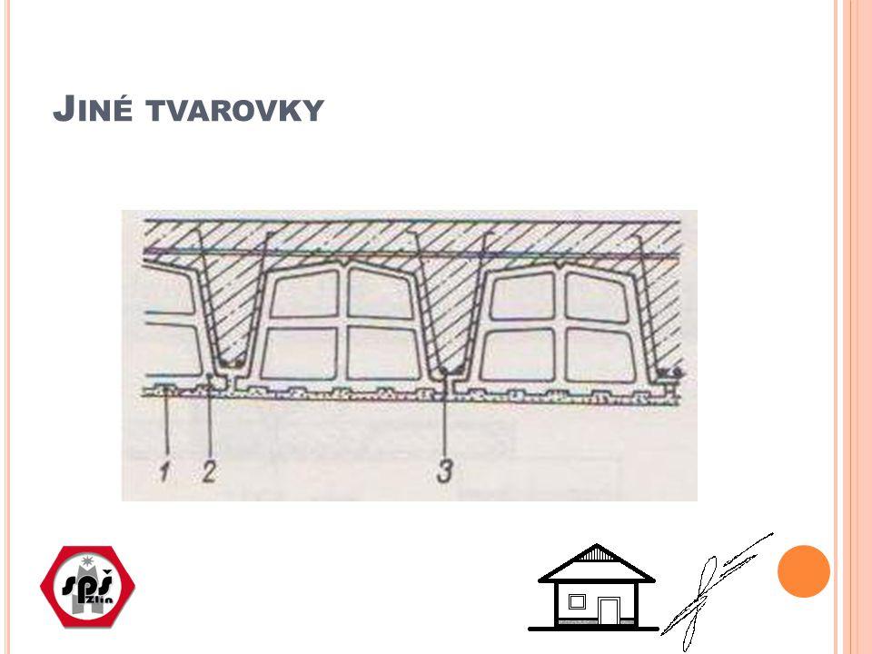 S TROPY Z KERAMICKÝCH POVALŮ Přestavovaly rovněž určitý úsek ve vývoji stavebnictví Principem by se daly začlenit spíše do stropů montovaných; šířka 30cm, délky do 450 cm Poval je vlastně malý panel, který nevyžaduje na stavbě zvedací techniku; Poval je složen z jedné řady keramických tvarovek, které jsou uprostřed nebo po stranách spojeny vyztuženým betonem Vytváří stejnorodý (keramický) podhled