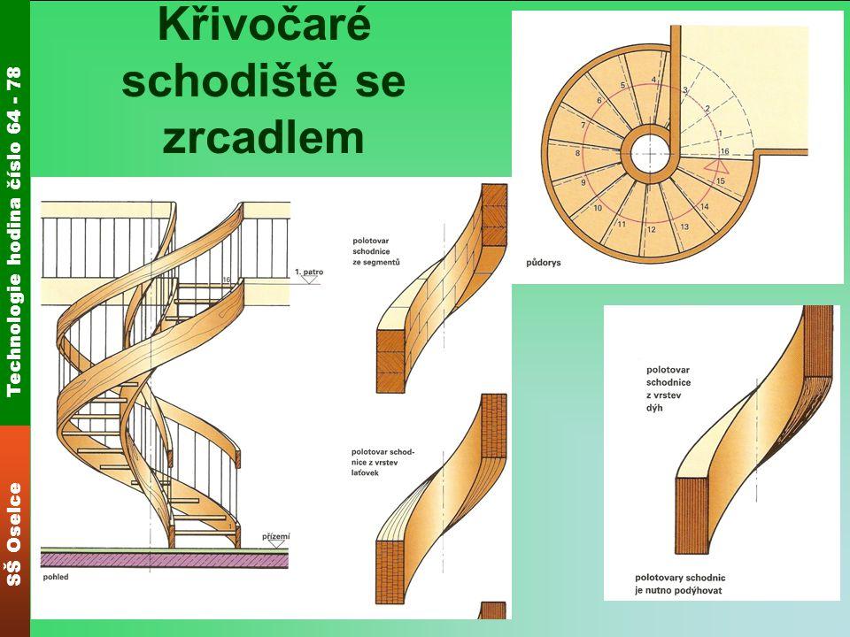 Technologie hodina číslo 64 - 78 SŠ Oselce Křivočaré schodiště se zrcadlem
