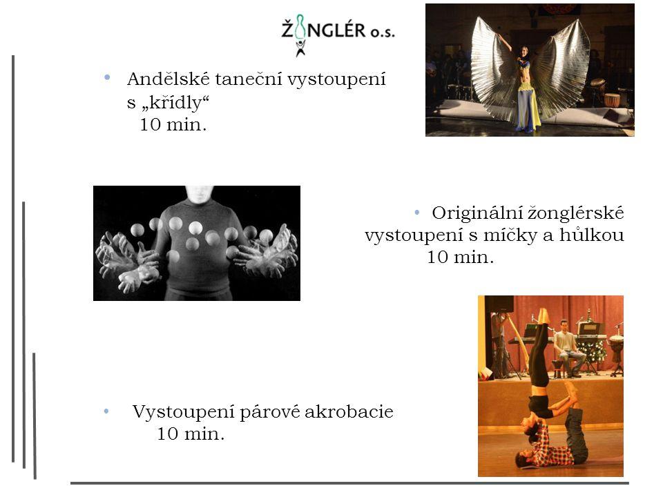 """Andělské taneční vystoupení s """"křídly 10 min."""
