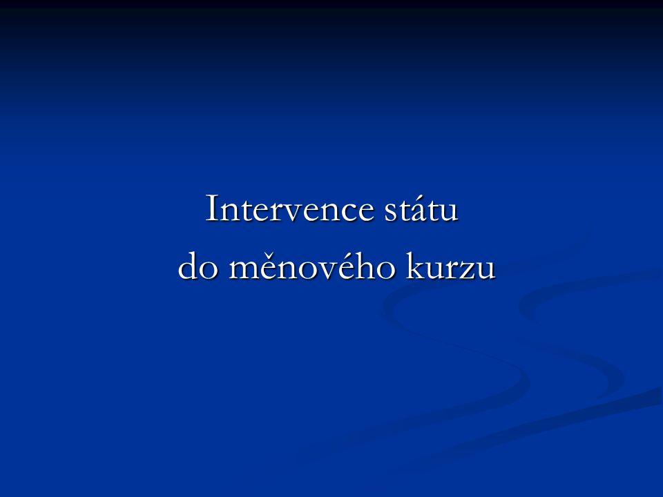 Intervence státu do měnového kurzu do měnového kurzu