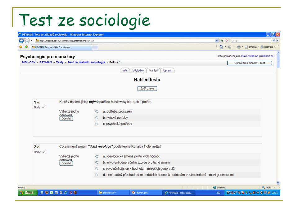Test ze sociologie
