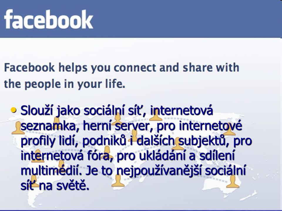 Slouží jako sociální síť, pro internetové profily lidí, pro ukládání a sdílení multimédií, druhá nejpoužívanější sociální síť na světě a podle mnohých lidí je nejlepší sociální sítí na světě,patří společnosti News Corporation, kterou vlastní Rupert Murdoch.