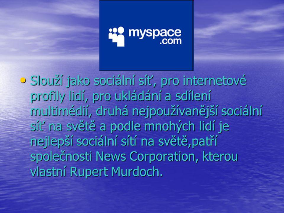 slouží především pro mikroblogy a jako sociální síť slouží především pro mikroblogy a jako sociální síť