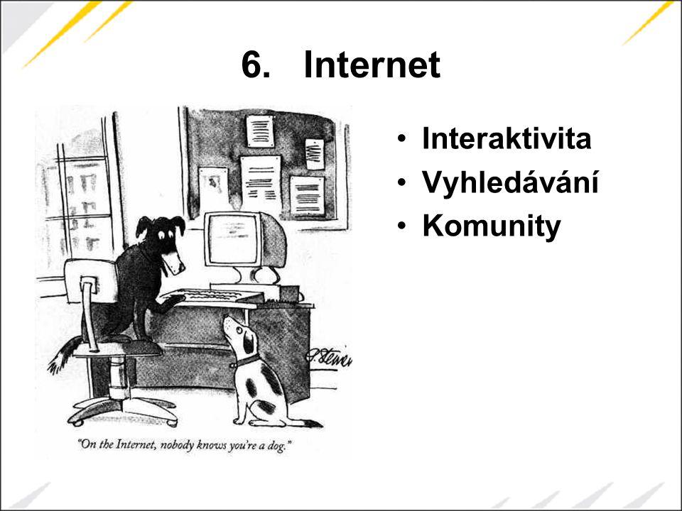 6.Internet Interaktivita Vyhledávání Komunity