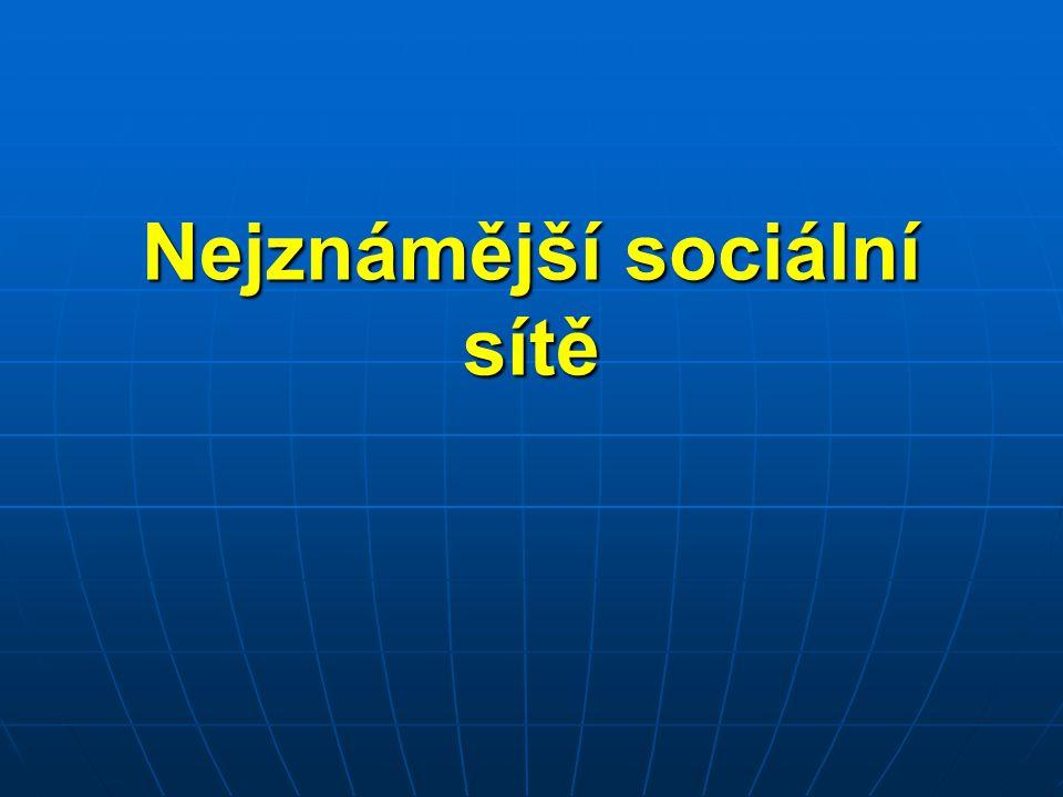 FACEBOOK  nejrozšířenější sociální síť (2012 - 800 mil.