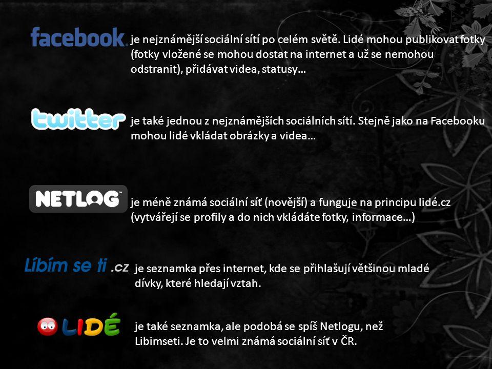 je nejznámější sociální sítí po celém světě.