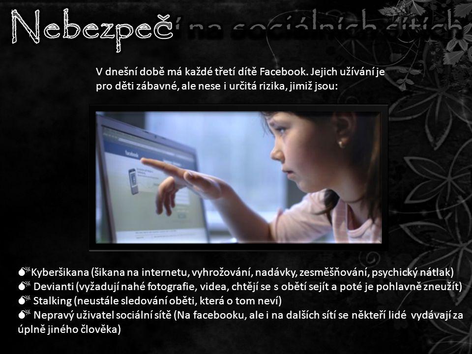 V dnešní době má každé třetí dítě Facebook.