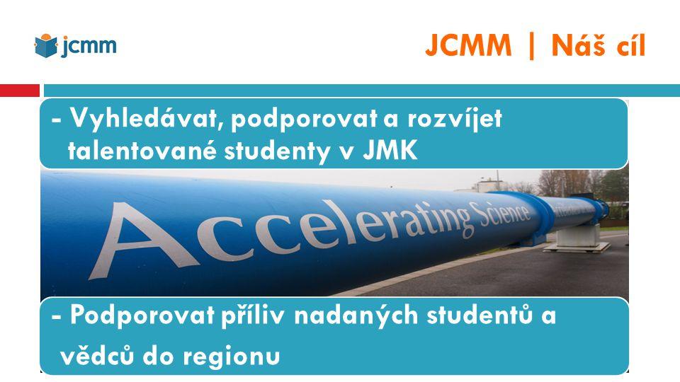 …vybrané výsledky  JCMM podporuje a pracuje každoročně s cca 400 talentovanými středoškoláky  JCMM podporuje a pracuje ročně s cca 50 talentovanými vysokoškoláky na úrovni bakaláře  JCMM podporuje až 60 PhD.
