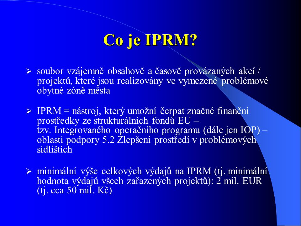 Co je IPRM.