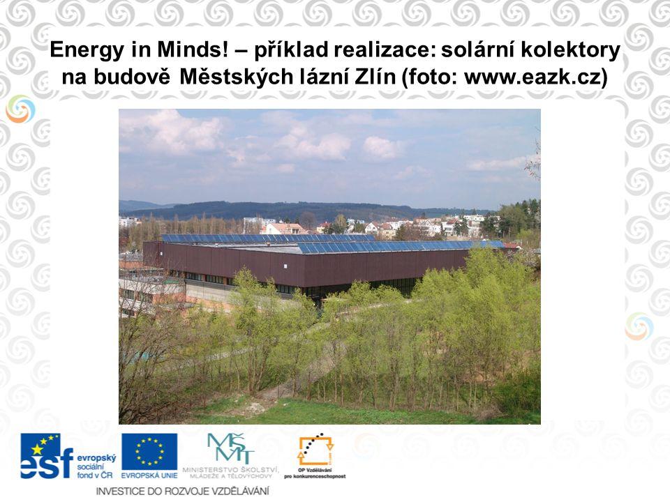 Energy in Minds! – příklad realizace: solární kolektory na budově Městských lázní Zlín (foto: www.eazk.cz)
