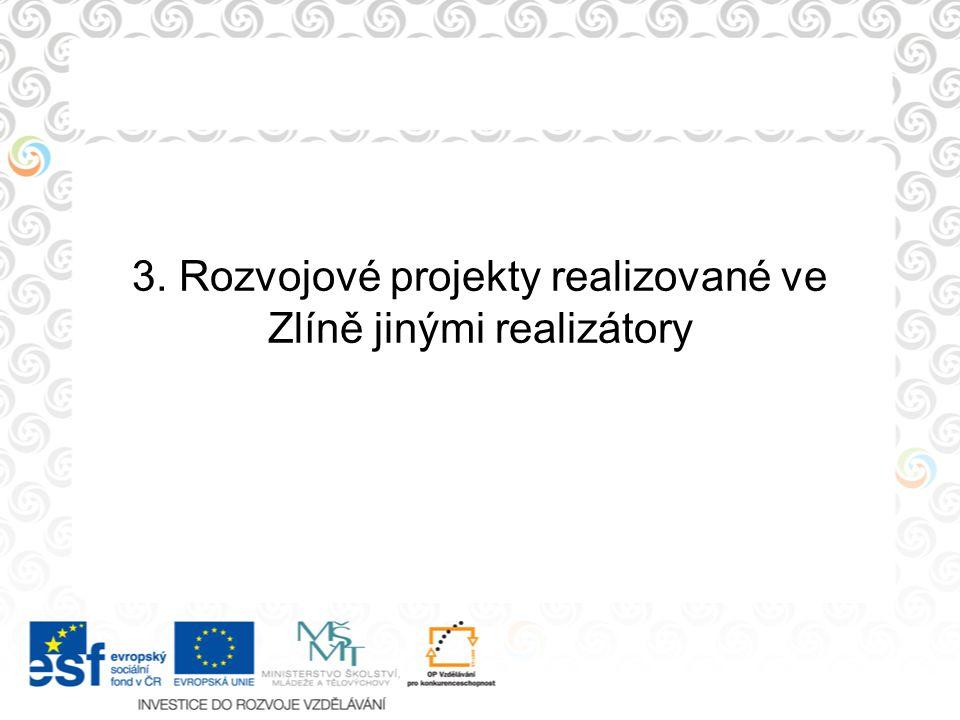 3. Rozvojové projekty realizované ve Zlíně jinými realizátory