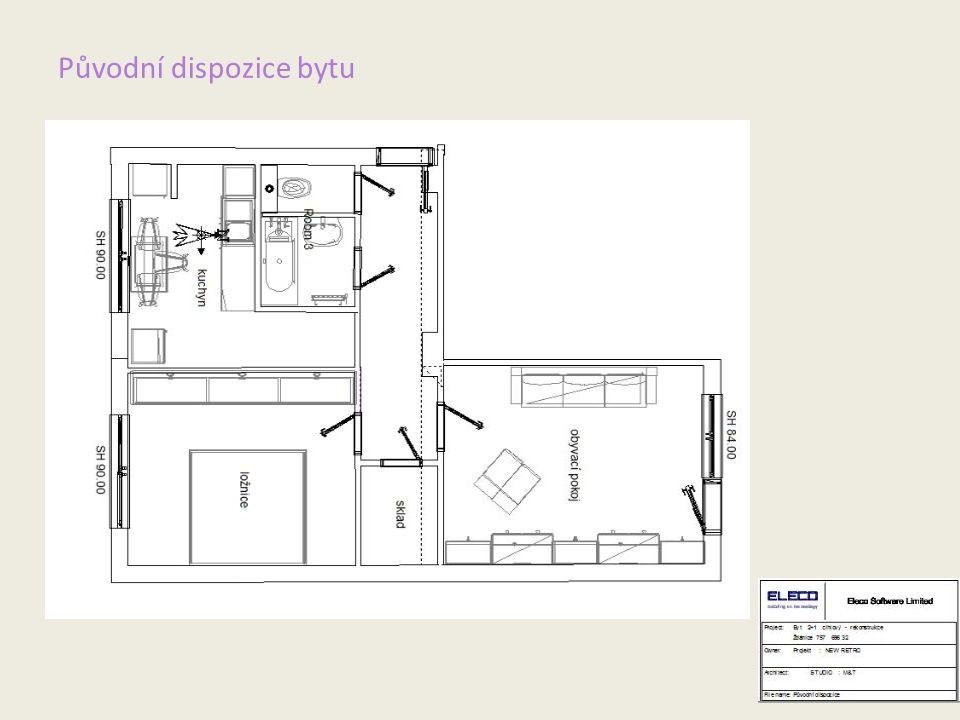Původní dispozice bytu