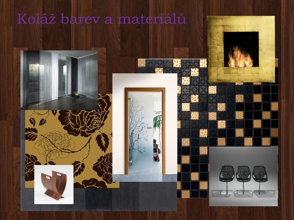 Koláž barev a materiálů