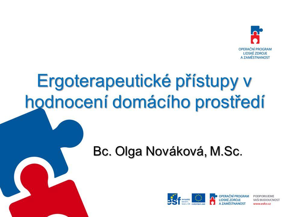 Ergoterapeutické přístupy v hodnocení domácího prostředí Bc. Olga Nováková, M.Sc Bc. Olga Nováková, M.Sc.