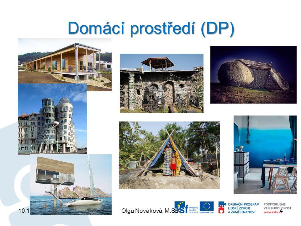 Domácí prostředí (DP) 10.10.2013Olga Nováková, M.Sc.4