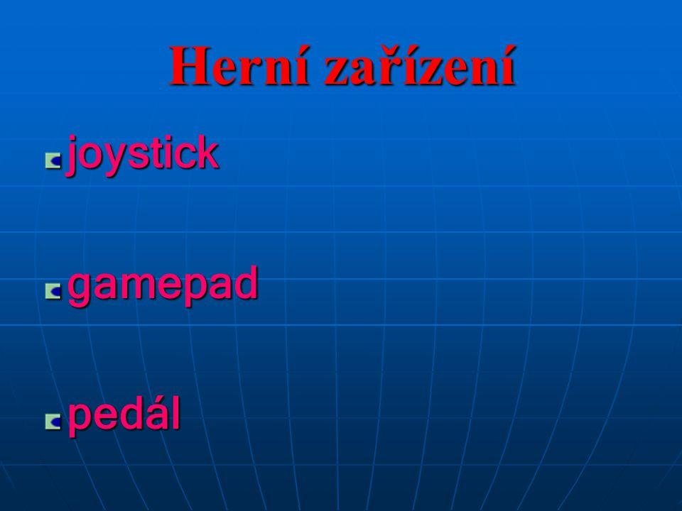 joystickgamepadpedál Herní zařízení
