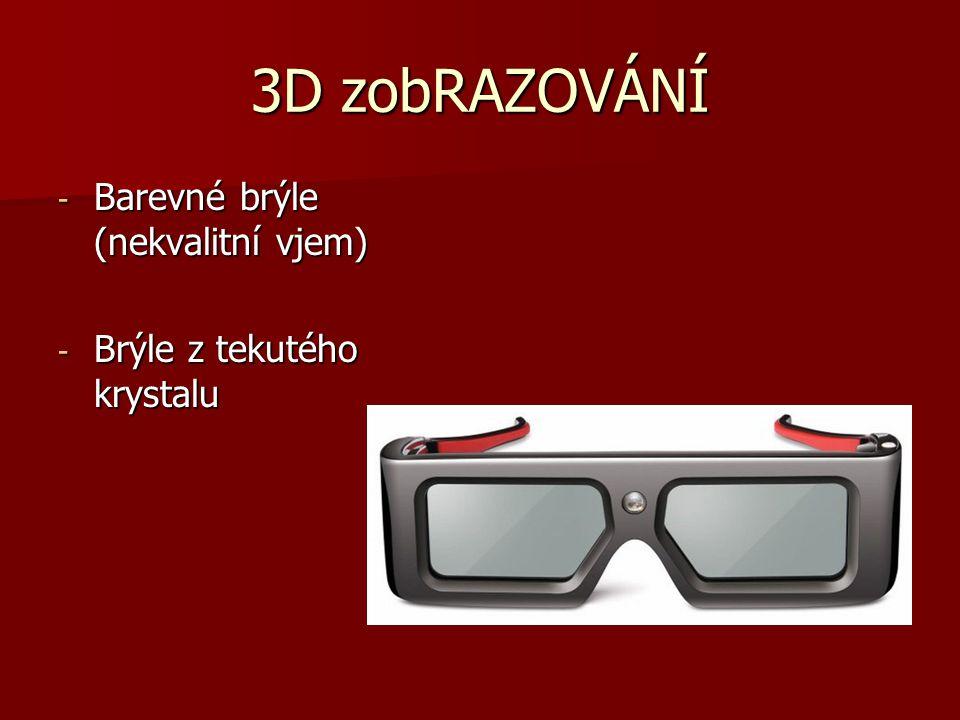 3D zobRAZOVÁNÍ - Barevné brýle (nekvalitní vjem) - Brýle z tekutého krystalu
