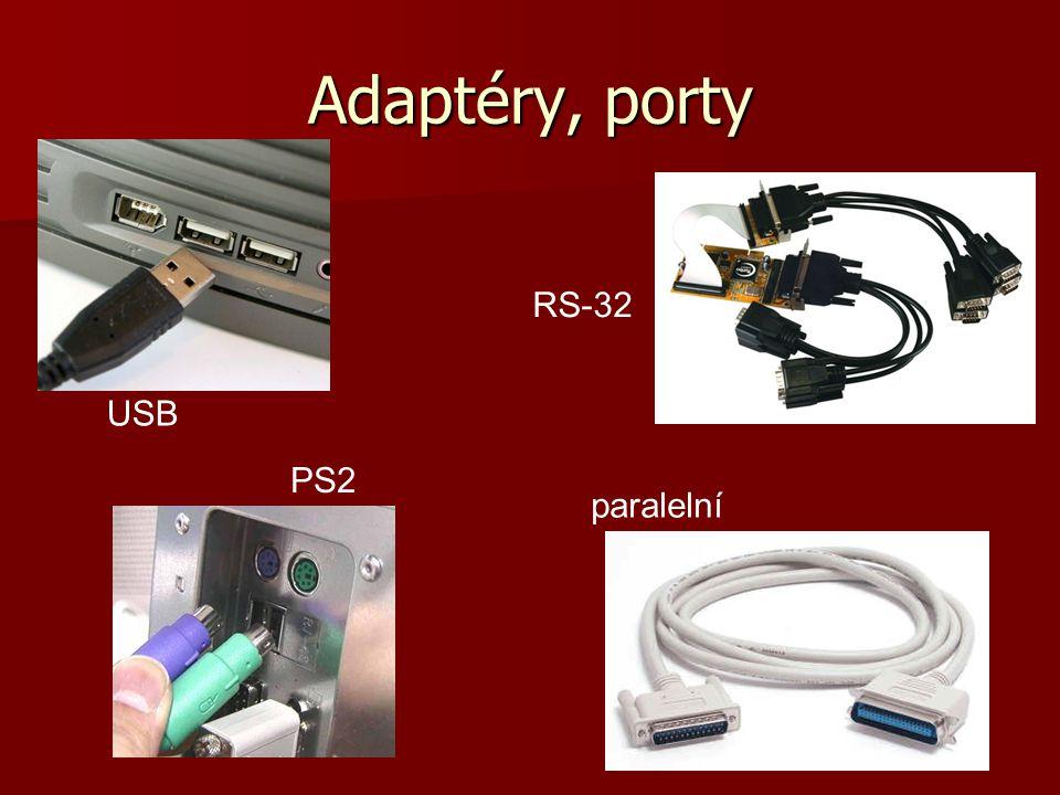 Adaptéry, porty PS2 USB paralelní RS-32