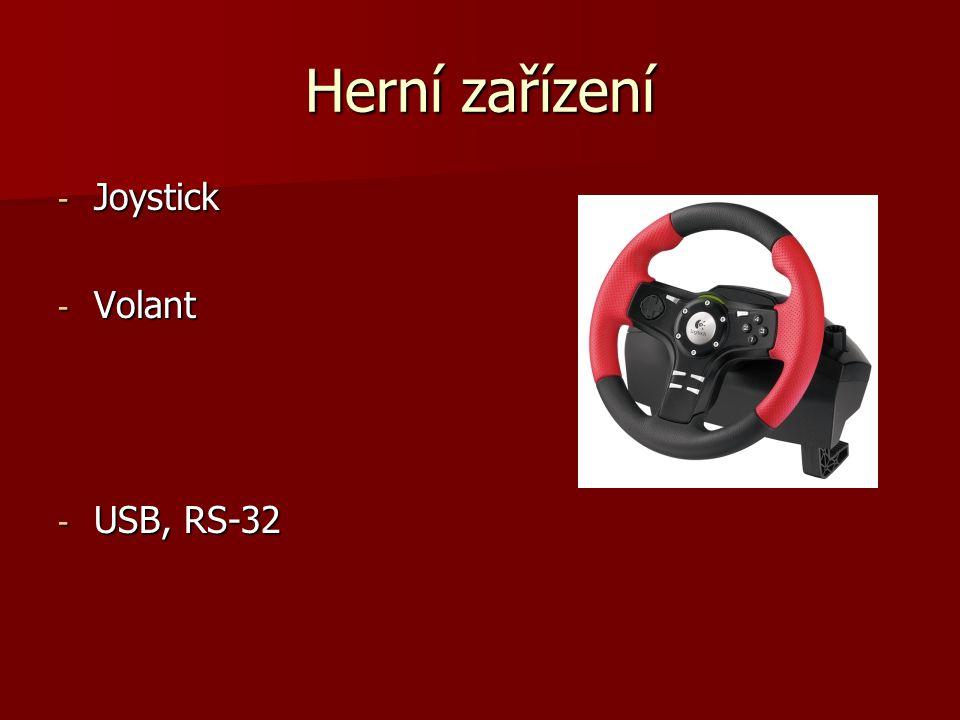 Herní zařízení - Joystick - Volant - USB, RS-32