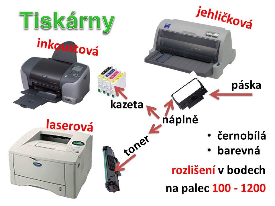 jehličková černobílá barevná rozlišení v bodech na palec 100 - 1200 inkoustová laserová páska toner kazeta náplně