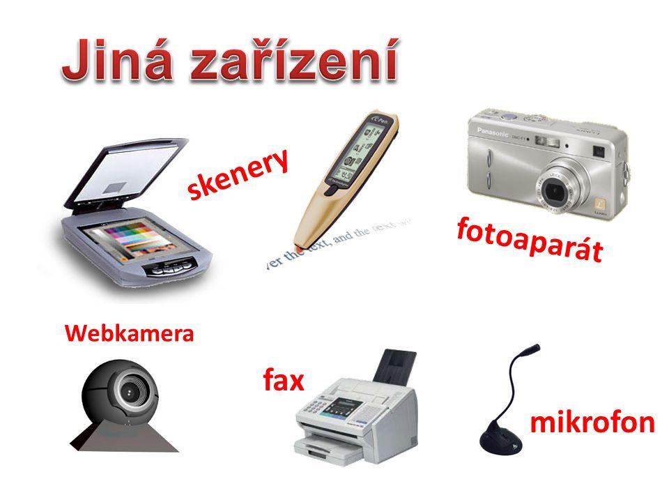 trackpoint skenery Webkamera mikrofon fotoaparát fax