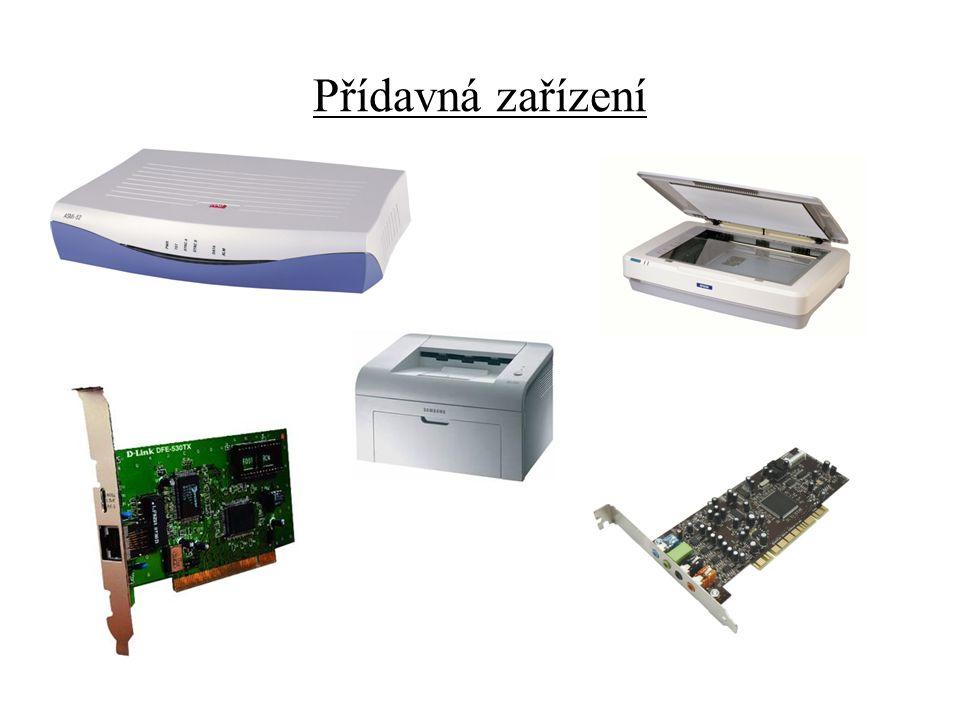 Modem : Je zařízení určené pro převádění počítačových dat do signálů, které se dají přenášet po telefonní lince, a zpětně zase signál převádět do počítačových dat.