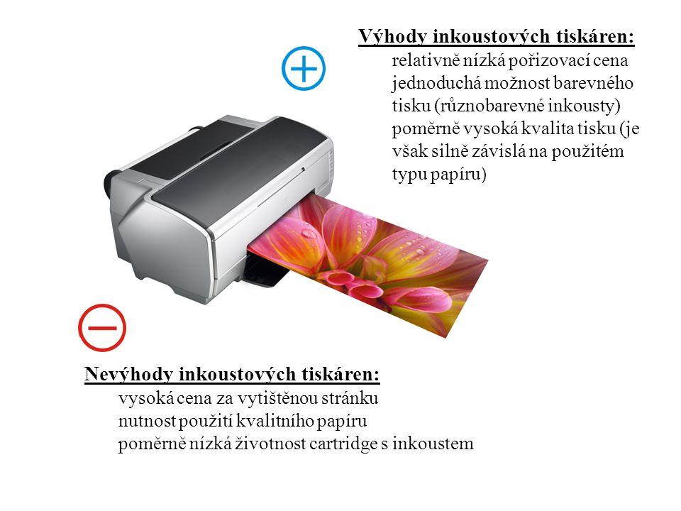 Typ tiskárny : laserová Laserové tiskárny se vyznačují ostrostí tisku i jemností danou vysokým rozlišením.