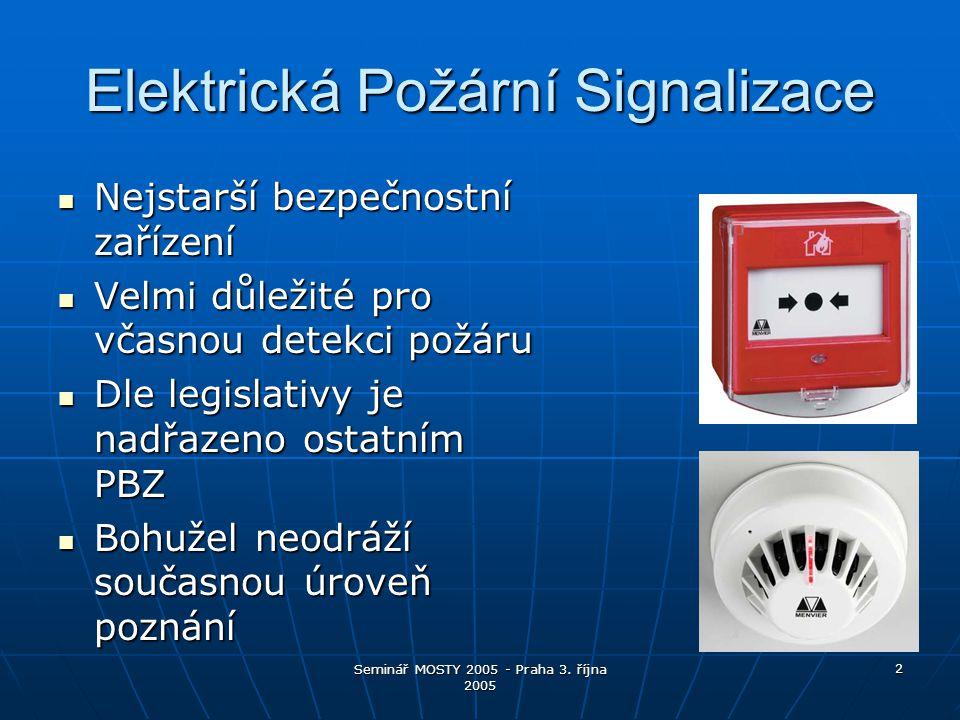 Seminář MOSTY 2005 - Praha 3.října 2005 13 Co přináší PBZ hasičům.