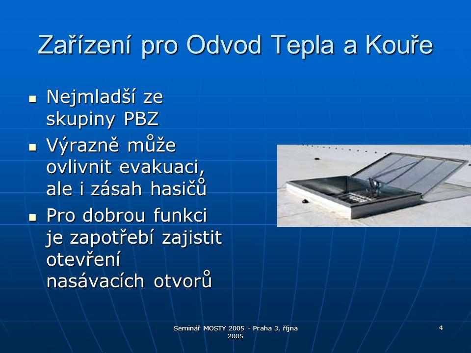 Seminář MOSTY 2005 - Praha 3.října 2005 15 Co přináší PBZ občanům.