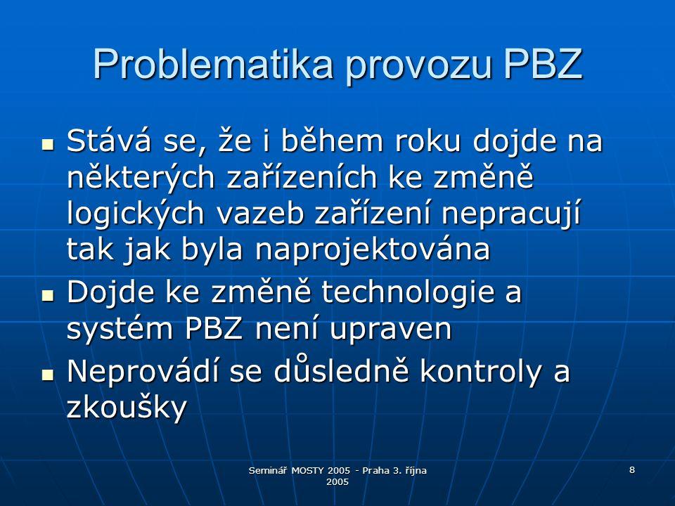 Seminář MOSTY 2005 - Praha 3.října 2005 19 A co provozovatel objektu.
