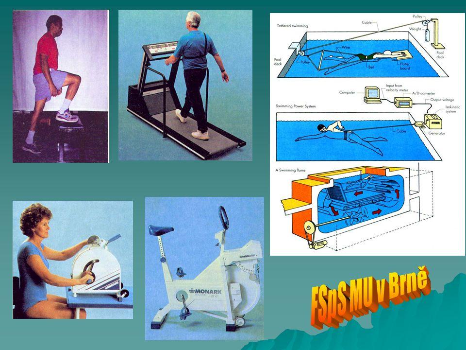  Margariův test (Margaria step - running test - Margaria a kol, 1966) běží se co nejrychleji do 14 schodů, měří se čas běhu mezi 3.