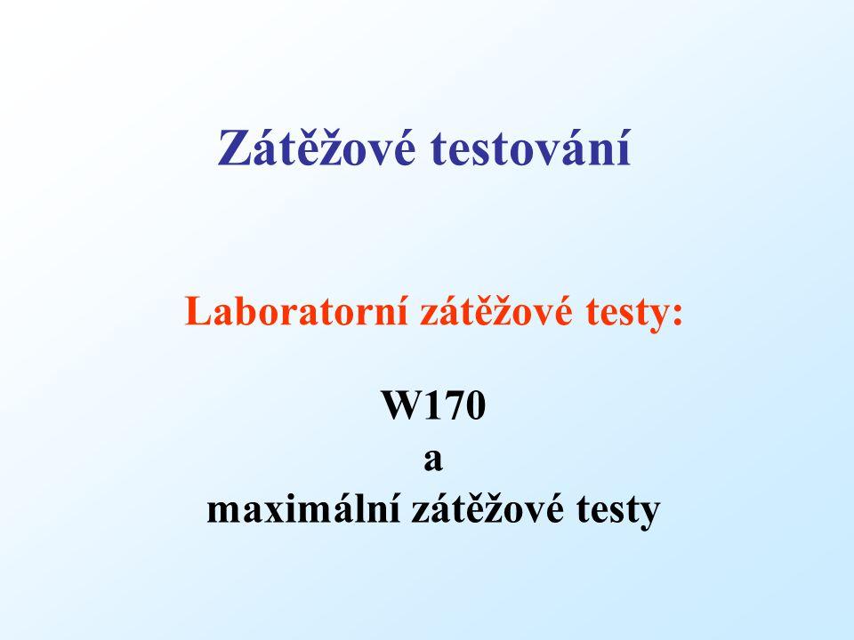 Laboratorní zátěžové testy: Zátěžové testování W170 a maximální zátěžové testy