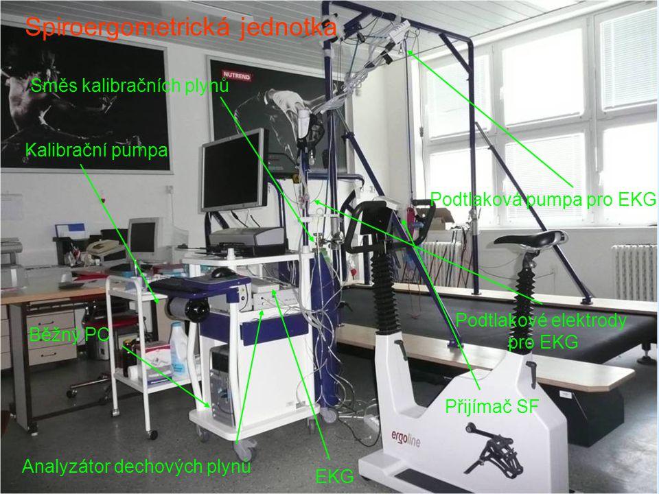 Běžný PC Kalibrační pumpa Spiroergometrická jednotka Analyzátor dechových plynů EKG Podtlaková pumpa pro EKG Směs kalibračních plynů Přijímač SF Podtl