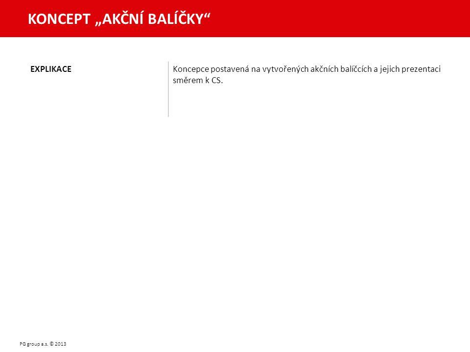 """KONCEPT """"AKČNÍ BALÍČKY PG group a.s."""