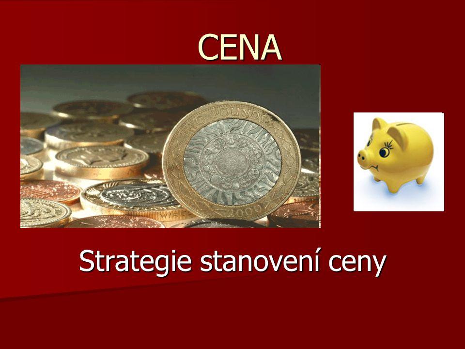 CENA Strategie stanovení ceny