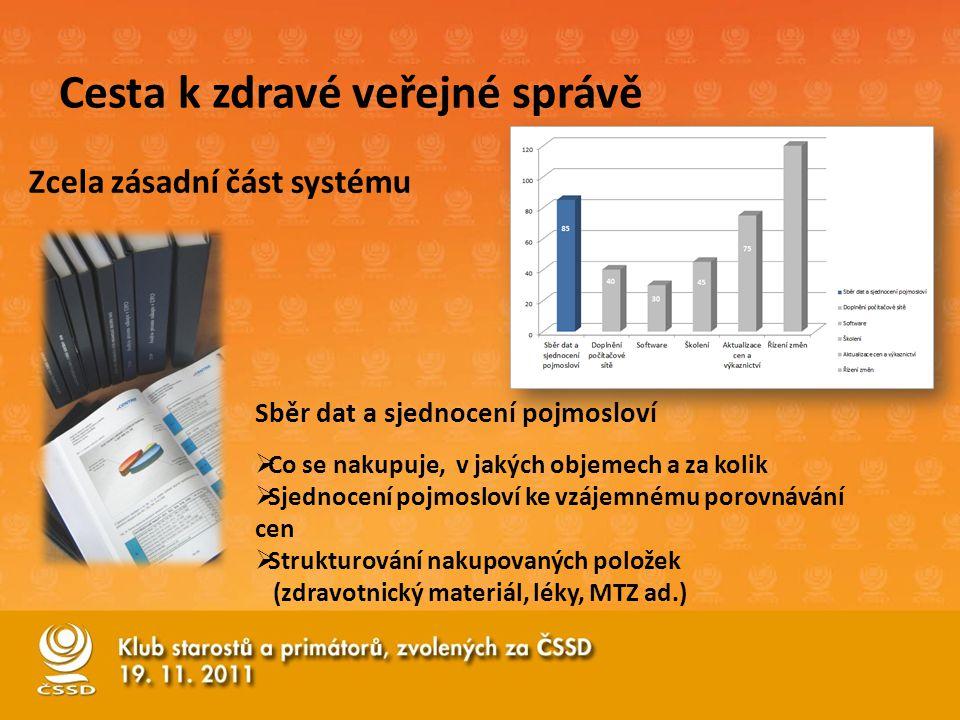 Cesta k zdravé veřejné správě Doplnění počítačové sítě u organizací  Zrychlení internetu Software  Jen malá část systému je aukční software