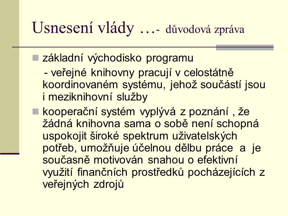Meziknihovní služby zákon č.257/2001 Sb. vyhláška č.