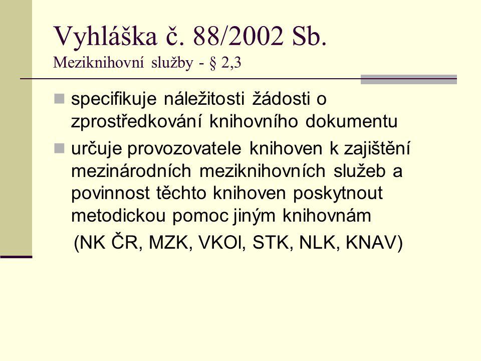 Meziknihovní výpůjční systém Regionální knihovny v Karviné více než 400 českých a zahraničních knihoven