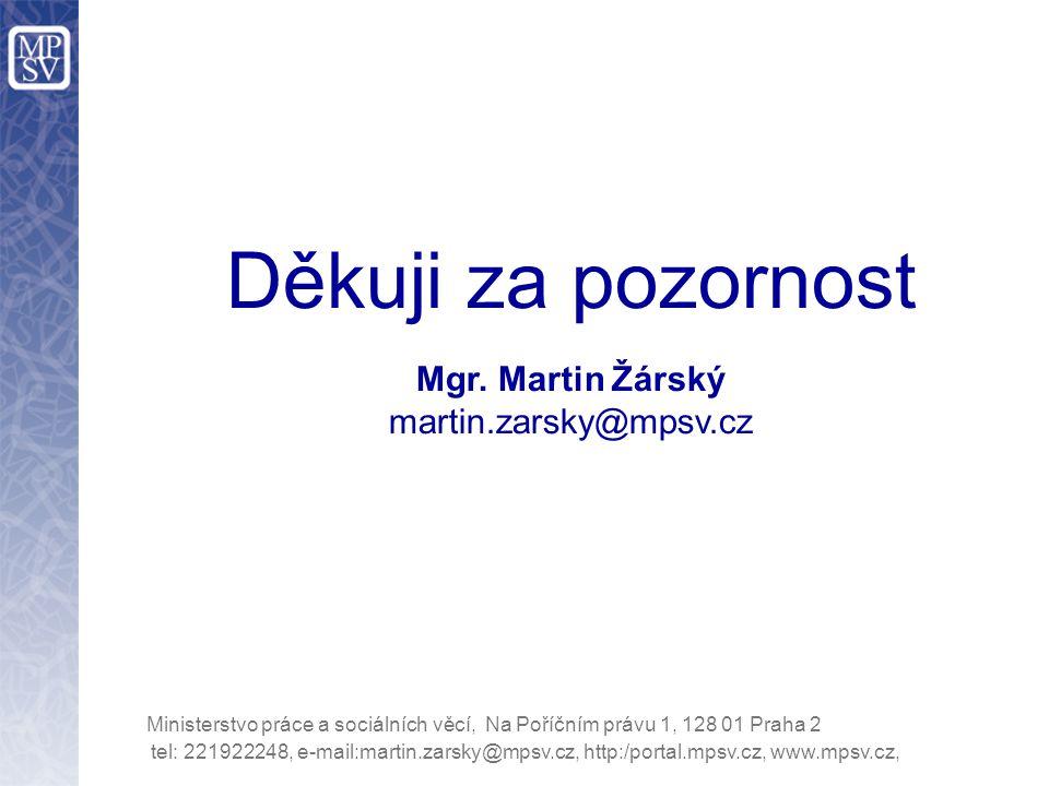tel: 221922248, e-mail:martin.zarsky@mpsv.cz, http:/portal.mpsv.cz, www.mpsv.cz, Ministerstvo práce a sociálních věcí, Na Poříčním právu 1, 128 01 Pra