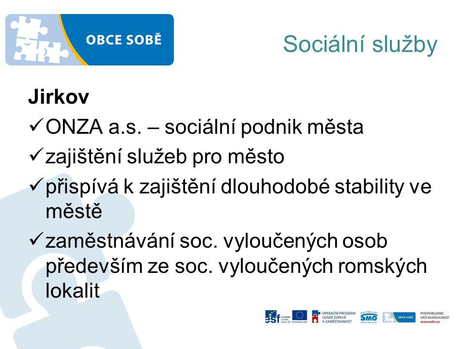 Sociální služby Jirkov ONZA a.s.