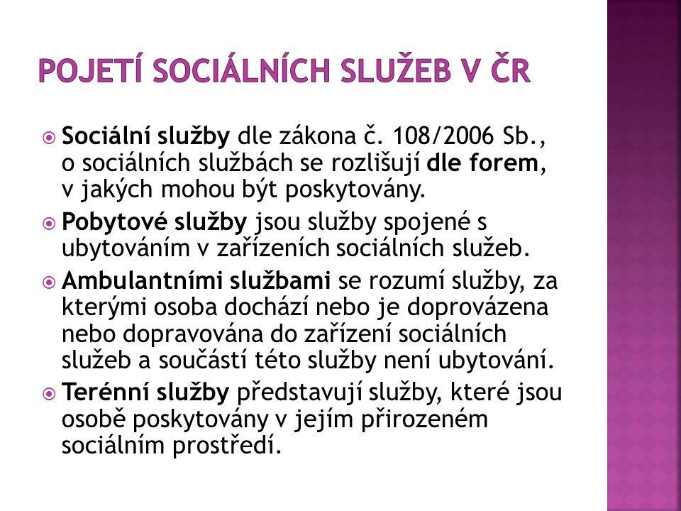  Sociální služby dle zákona č.