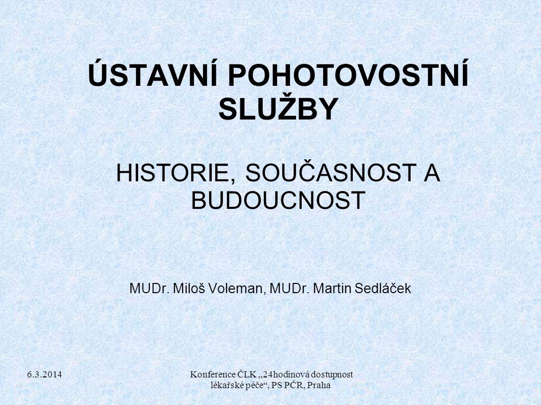 """6.3.2014 Konference ČLK """"24hodinová dostupnost lékařské péče , PS PČR, Praha Děkuji za pozornost"""