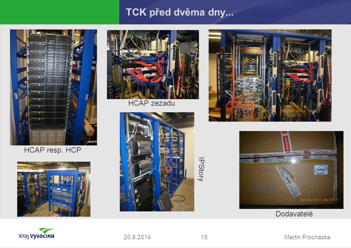 Martin Procházka1520.8.2014 TCK před dvěma dny... Dodavatelé HCAP resp. HCP HCAP zezadu IPStory