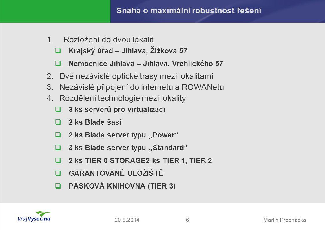 Martin Procházka720.8.2014 Začlenění TCK do sítí KrU