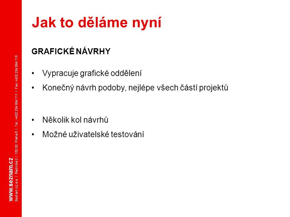 www.seznam.cz Seznam.cz, a.s. I Radlická 2 I 150 00 Praha 5 I Tel.: +420 234 694 111 I Fax: +420 234 694 115 GRAFICKÉ NÁVRHY Vypracuje grafické odděle