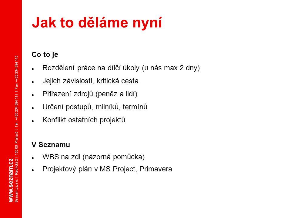 www.seznam.cz Seznam.cz, a.s. I Radlická 2 I 150 00 Praha 5 I Tel.: +420 234 694 111 I Fax: +420 234 694 115 Co to je Rozdělení práce na dílčí úkoly (