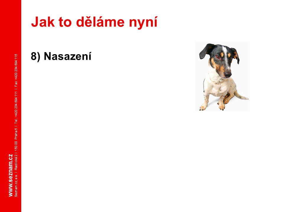 www.seznam.cz Seznam.cz, a.s. I Radlická 2 I 150 00 Praha 5 I Tel.: +420 234 694 111 I Fax: +420 234 694 115 8) Nasazení Jak to děláme nyní