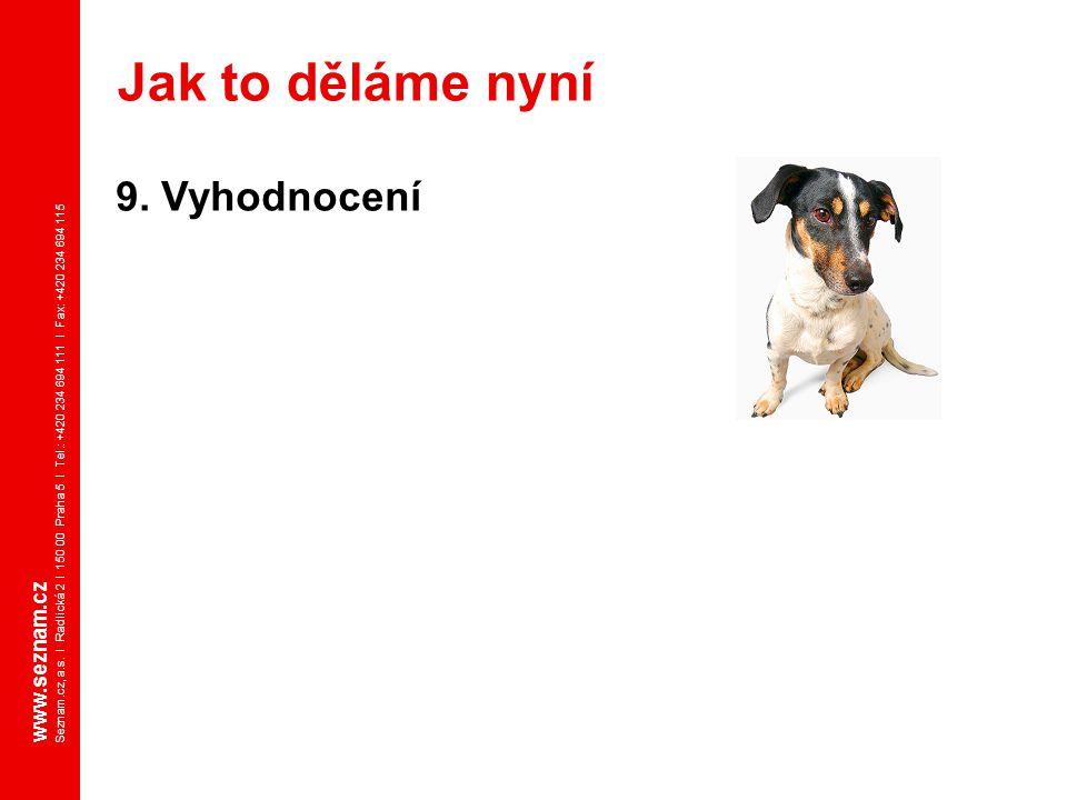 www.seznam.cz Seznam.cz, a.s. I Radlická 2 I 150 00 Praha 5 I Tel.: +420 234 694 111 I Fax: +420 234 694 115 9. Vyhodnocení Jak to děláme nyní