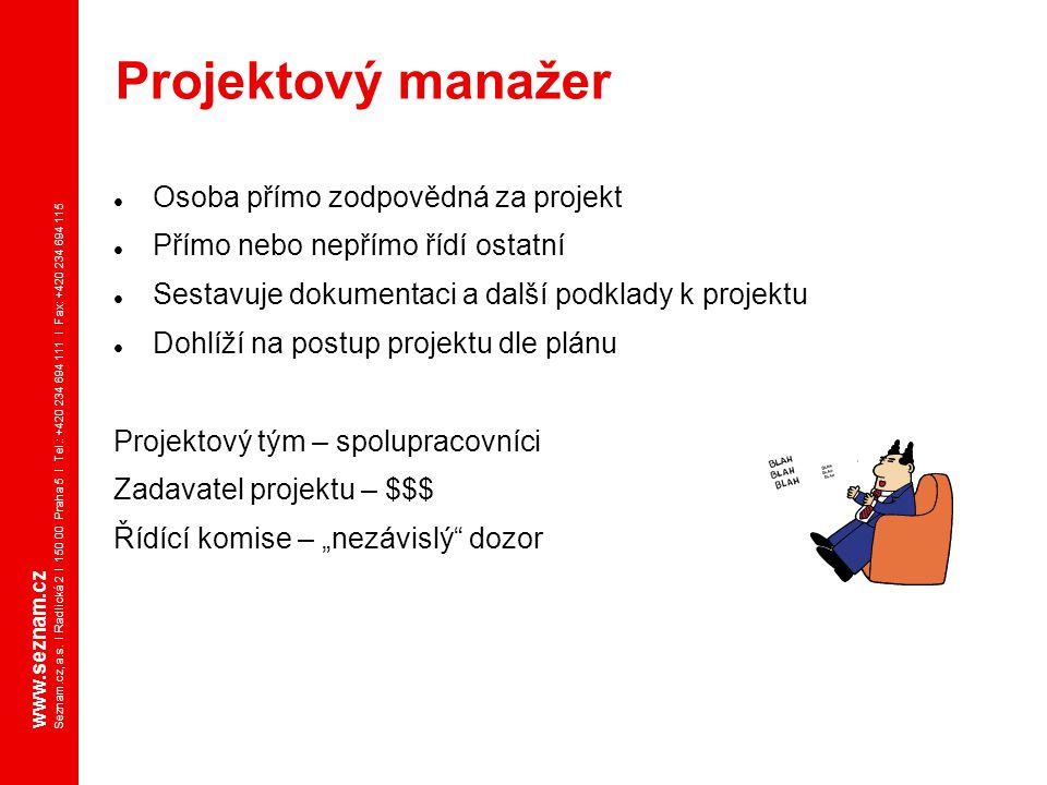 www.seznam.cz Seznam.cz, a.s. I Radlická 2 I 150 00 Praha 5 I Tel.: +420 234 694 111 I Fax: +420 234 694 115 Osoba přímo zodpovědná za projekt Přímo n